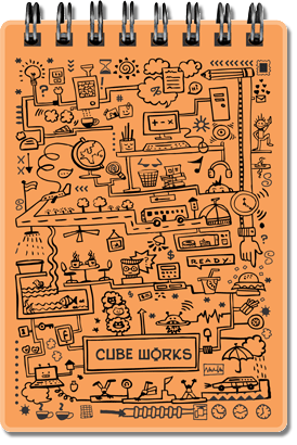 CUBEWORKS- RING-BOOK A7- ORANGE